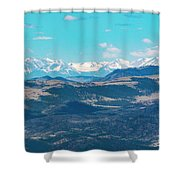 Collegiate Peaks From Little Grouse Mountain Shower Curtain