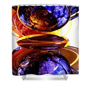Colliding Forces Abstract Shower Curtain