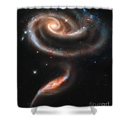 Colliding Galaxies Shower Curtain