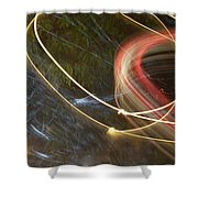 Colliding Worlds  Shower Curtain by Michael Lucarelli