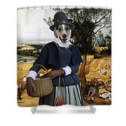 Collie Smooth - Smooth Collie Art Canvas Print - The Harvesters Shower Curtain