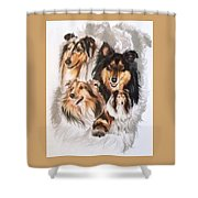 Collie W/ghost Shower Curtain