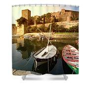 Collioure Castle Shower Curtain