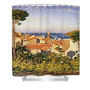 Collioure Shower Curtain by James Dickson Innes