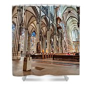 Cologne Cathedral Interior Shower Curtain