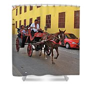 Colombia Carriage Shower Curtain