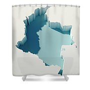 Colombia Simple Intrusion Map 3d Render Shower Curtain