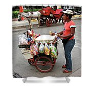 Colombia Srteet Cart Shower Curtain