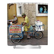 Colombia Srteet Cart II Shower Curtain