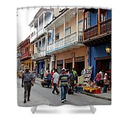 Colombia Streets Shower Curtain