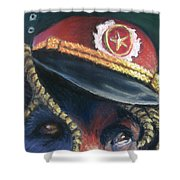 Colonel Nose Knows Close-up Shower Curtain
