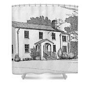 Colonel Quarters 2 - Fort Benning Ga Shower Curtain
