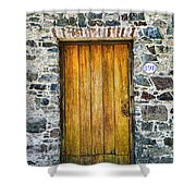 Colonia Old Door Shower Curtain