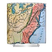 Colonial America Map Shower Curtain