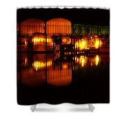 Colonial Beach Docks After Dark Shower Curtain