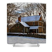 Colonial Christmas Shower Curtain