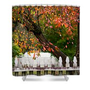 Colonial Fall Colors Shower Curtain