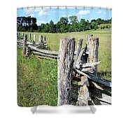 Colonial Fence At The Home Of Booker T Washington Shower Curtain