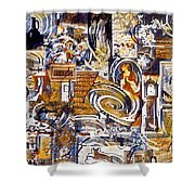 Colonial Heritage - Panel 1 Shower Curtain