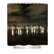Colonial Lake At Night Shower Curtain