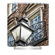 Colonial Lamp And Window Shower Curtain