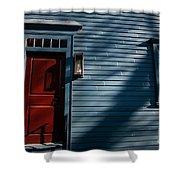 Colonial Red Door Newport Rhode Island Shower Curtain