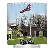 Colonial Soldiers Shower Curtain