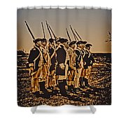 Colonial Soldiers On Parade Shower Curtain