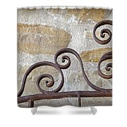 Colonial Wrought Iron Gate Detail Shower Curtain