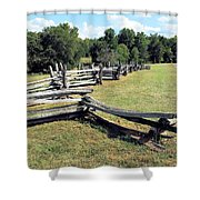 Colonial Zig Zag Fence At Booker T Washingtons Home Shower Curtain