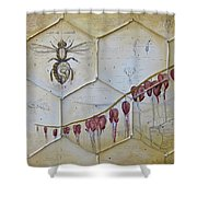 Colony Collapse Disorder Shower Curtain