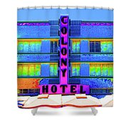 Colony Hotel Palm Shower Curtain