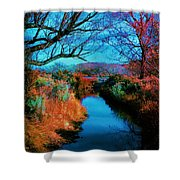 Color Along The River Shower Curtain