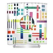 Color And Form Shower Curtain