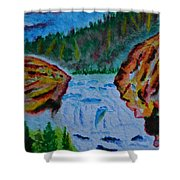 Color At The Firehole Shower Curtain