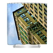 Color Buildings Architecture New York  Shower Curtain