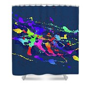 Color Chaos Shower Curtain
