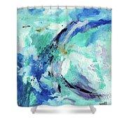 Color Chaos Aqua Shower Curtain