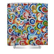 Color Circles 201810 Shower Curtain