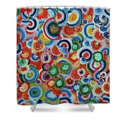 Color Circles 201811 Shower Curtain