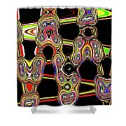 Color Circles Abstract Shower Curtain