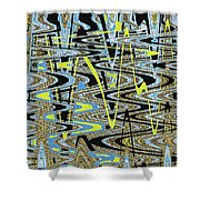 Color Combo Abstraction Shower Curtain