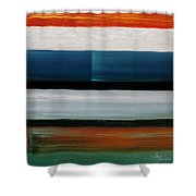 Color Decoded Shower Curtain