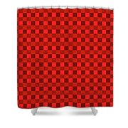 Color Dots On Red Drawing Abstract #7 Shower Curtain