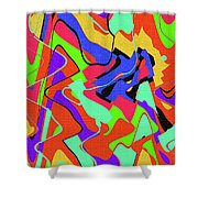 Color Drawing Abstract #3 Shower Curtain