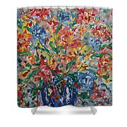 Color Expressions. Shower Curtain
