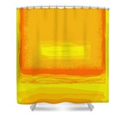 Color Field Sunset Yellow Shower Curtain