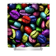 Color Full Coffe Beans Shower Curtain