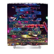 Color Glass Shower Curtain