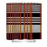 Color Grid Shower Curtain